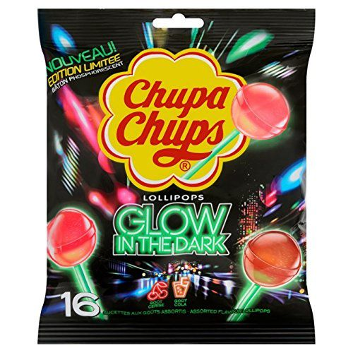 "Sucettes Chupa Chups ""Glow in the Dark"" (édition limitée)"