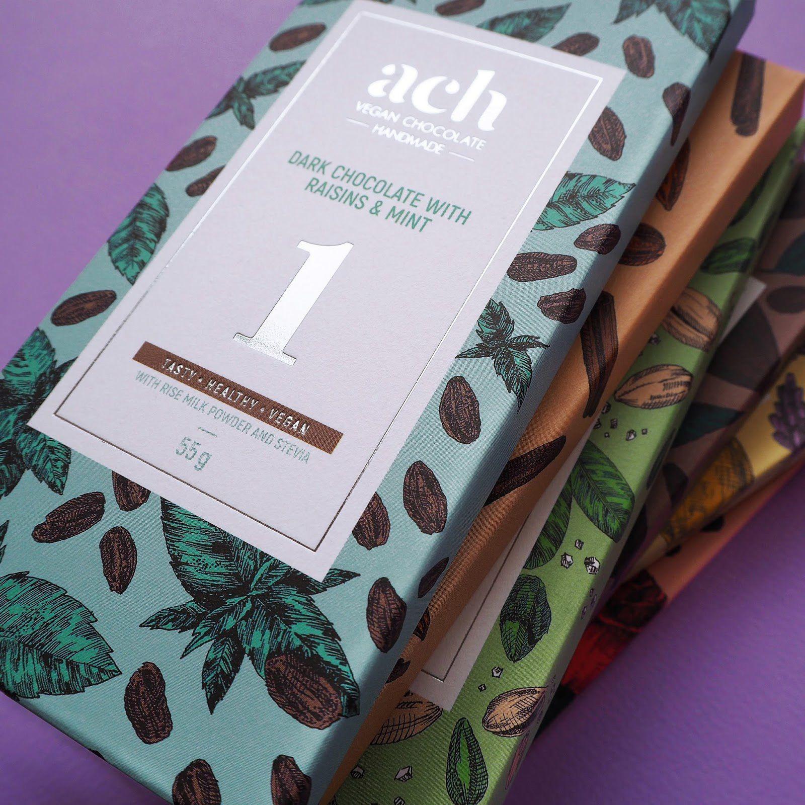 ACH vegan chocolate (chocolat vegan) I Design : Gintarė Marcinkevičienė, Vilnius, Lituanie (octobre 2017)