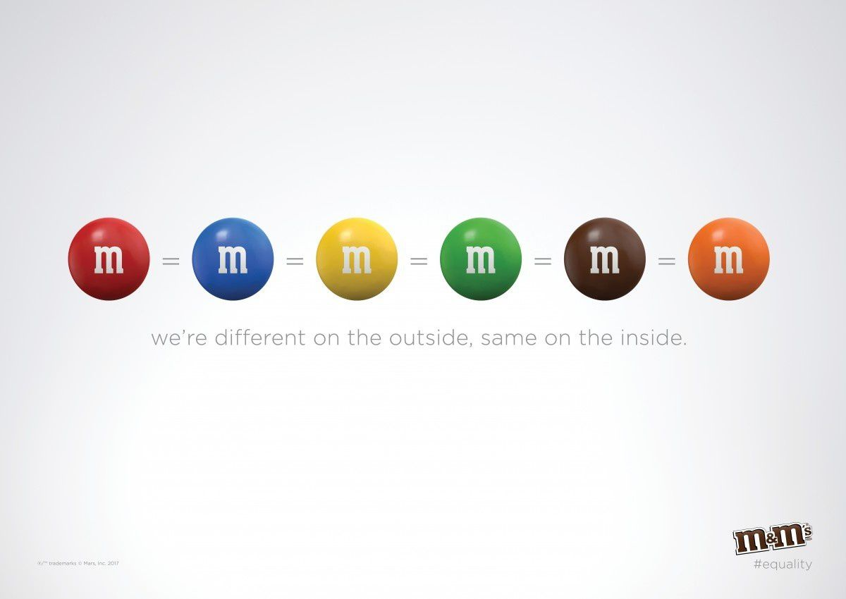 "M&Ms / Mars Chocolate - ""Brighter Together"" I Agence : BBDO, New-York, Etats-Unis (2017)"