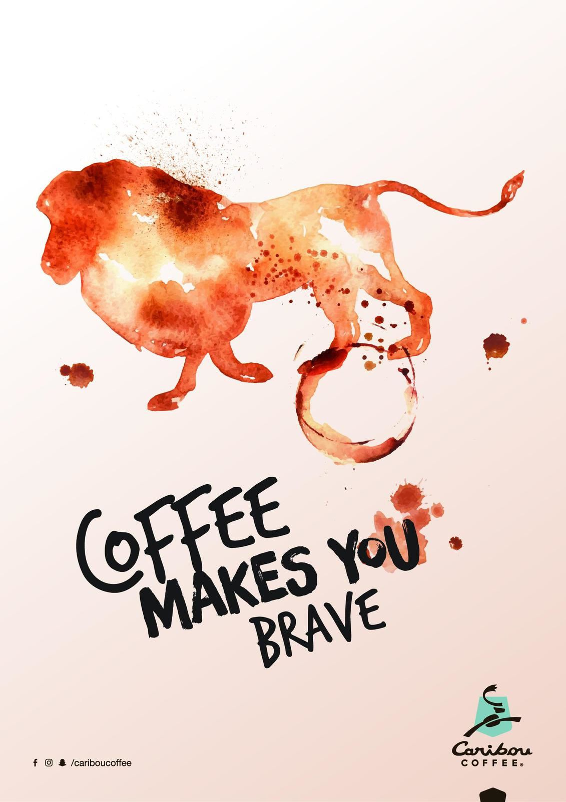 "Caribou Coffee : ""Coffee makes you brave"" I Agence : AEStudios, Emirats Arabes Unis (décembre 2017)"