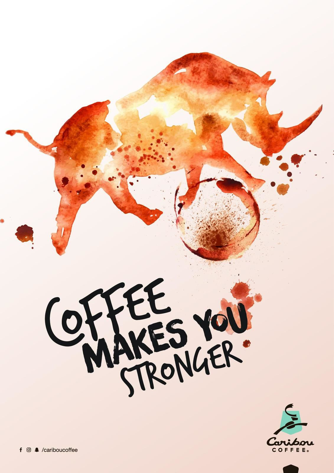 "Caribou Coffee : ""Coffee makes you stronger"" I Agence : AEStudios, Emirats Arabes Unis (décembre 2017)"