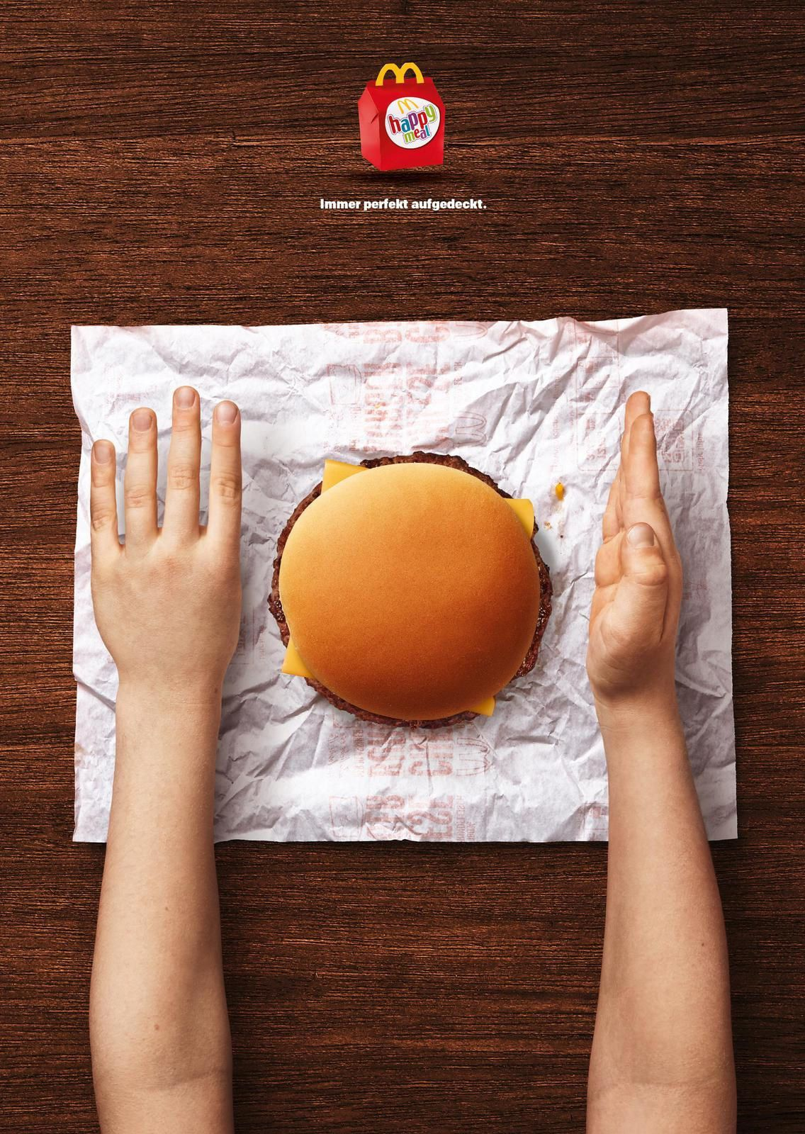 "McDonald's : ""The perfect table setting"" (Happy Meal : menu enfants) I Agence : DDB, Vienne, Autriche (mars 2018)"