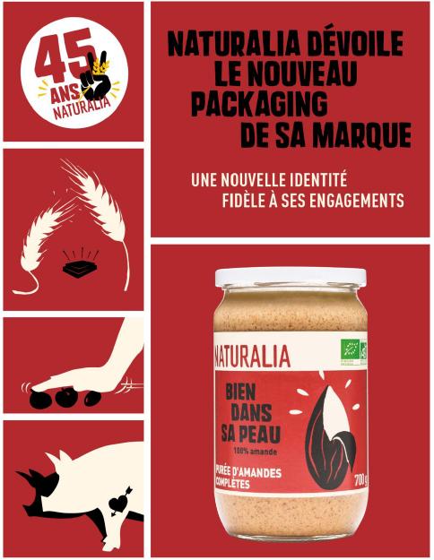 Le nouveau packaging des produits bio de la marque Naturalia