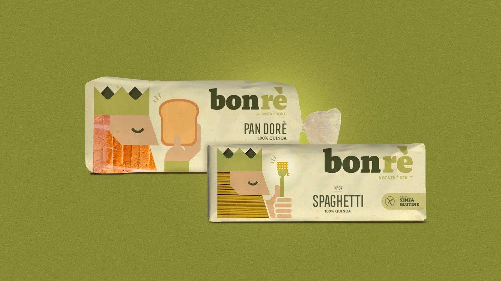 "Bonrè : ""goodness is real"" (produits sans gluten) I Design : Solid Studio, Caserta, Italie (mai 2018)"