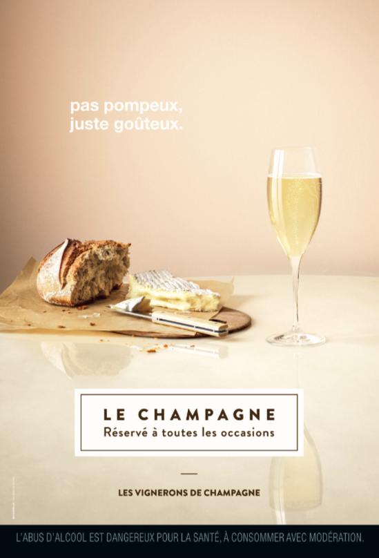 """""""Le champagne, réservé à toutes les occasions"""" - Les vignerons de Champagne I Agence : M&C SAATCHI GAD, Paris, france (juin 2018)"""