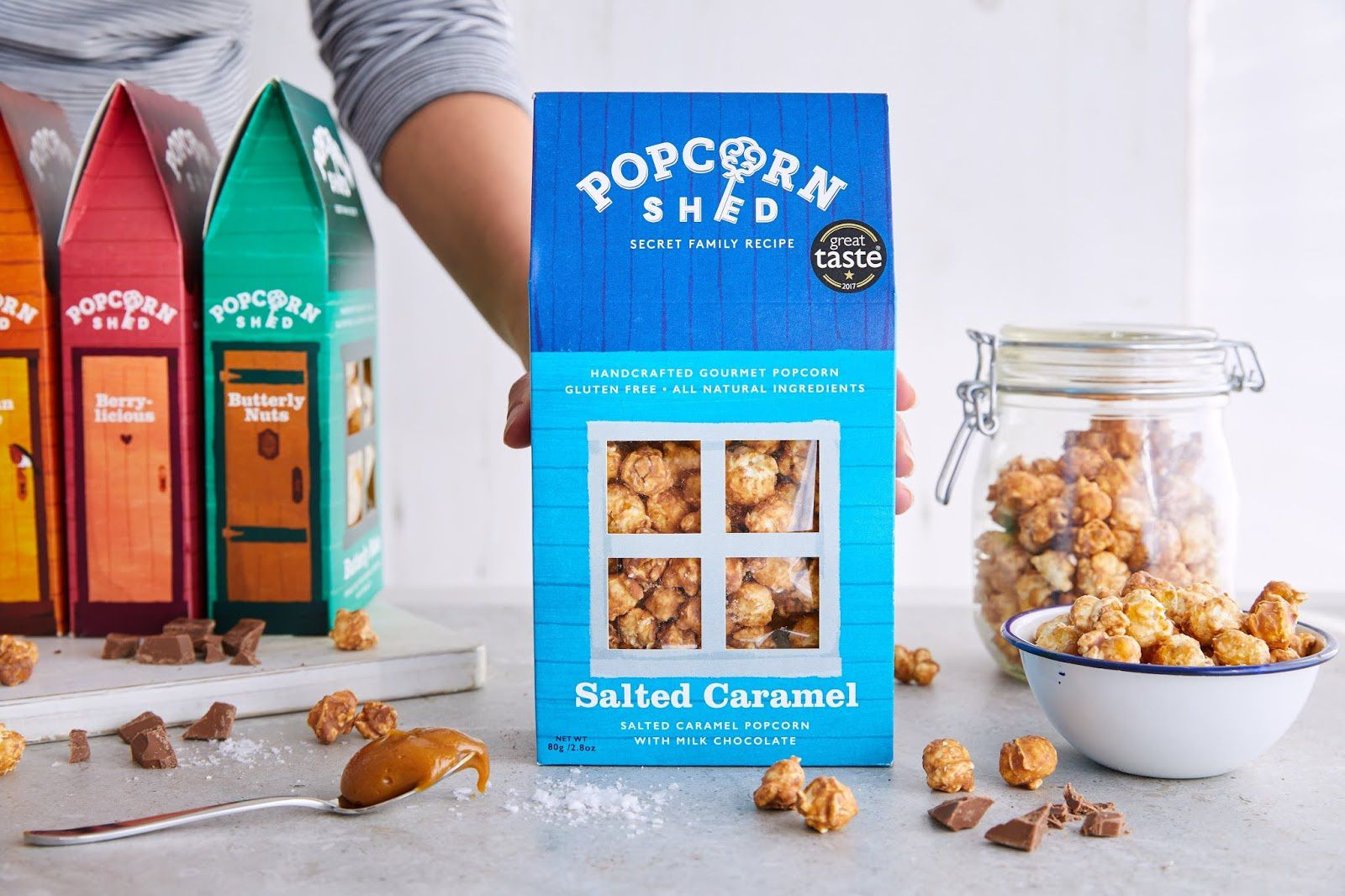 Popcorn Shed (popcorn gourmet aromatisé) I Design : Martyn Garrod, Londres, Royaume-Uni (juin 2018)