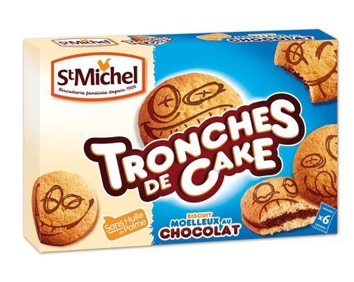 Tronches de Cake (biscuits moelleux fourrés au chocolat) - St Michel