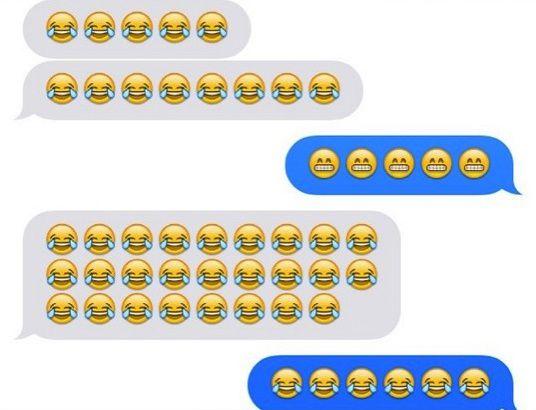 Conversation messenger avec des emojis