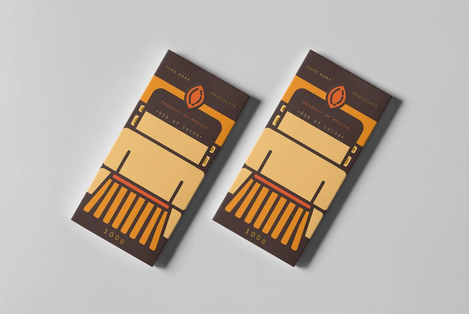 "Chocolatl : ""The Chocolate of Maya"" (chocolat) I Design (concept) : Lilit Malkhasyan, Yerevan, Armenie (juillet 2018)"