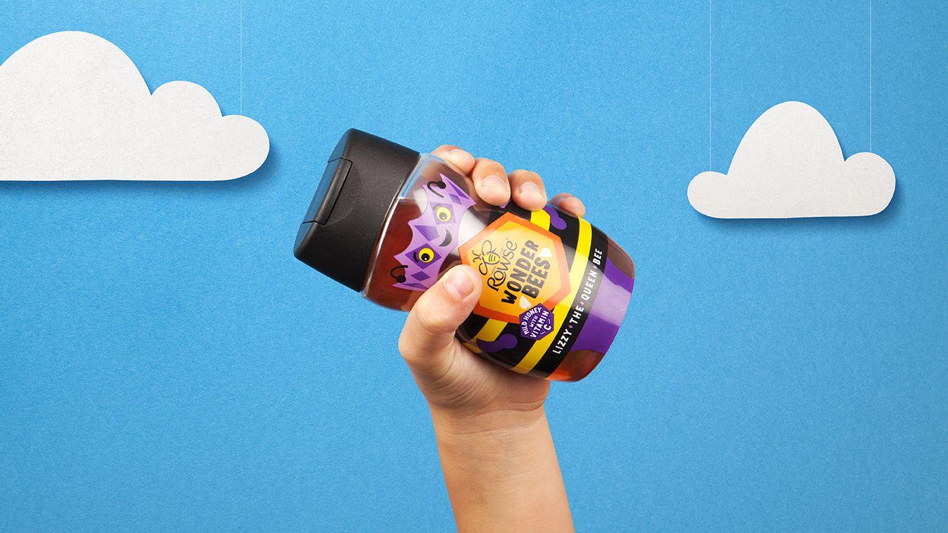 Rowse Honey - Rowse Wonder Bees (nouvelle gamme de miel pour enfants) I Design : BrandOpus(août 2018)