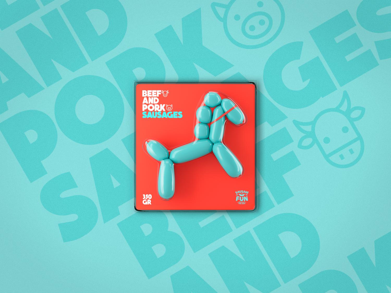 Sausage Fun - IP Ivanov&Co (saucisses vendues sous forme de ballons gonflables - édition limitée) I Design (concept) : Jekyll and Hyde, Saint Petersbourg, Russie (août 2018)