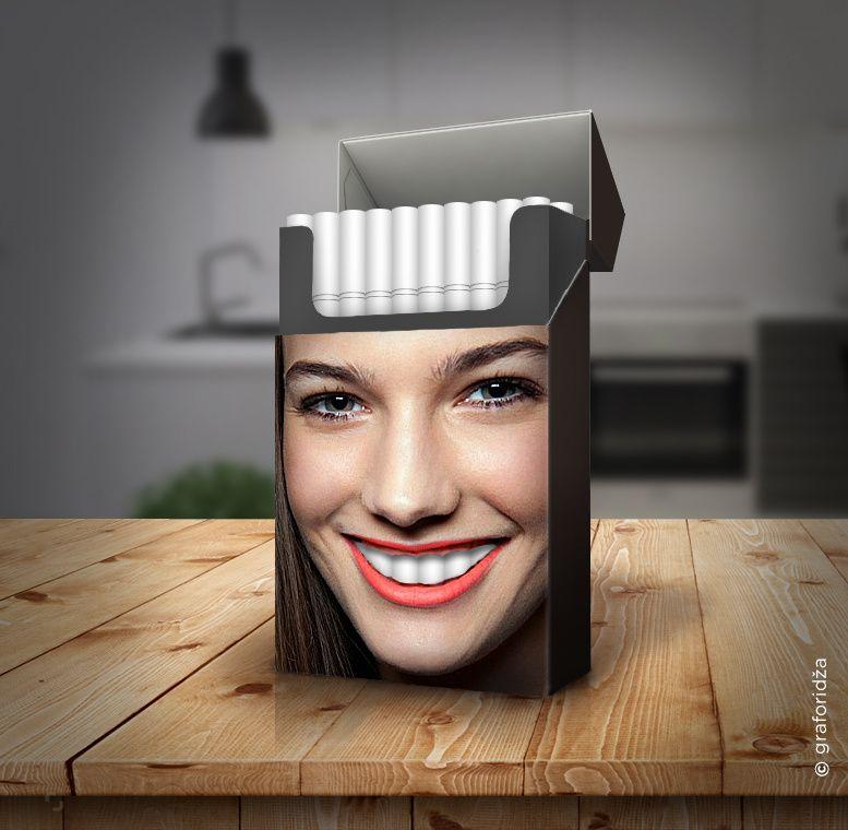 Tobacco Teeth (paquet de cigarettes) I Design (concept) : Miroslav Vujovic, Serbie (2017)