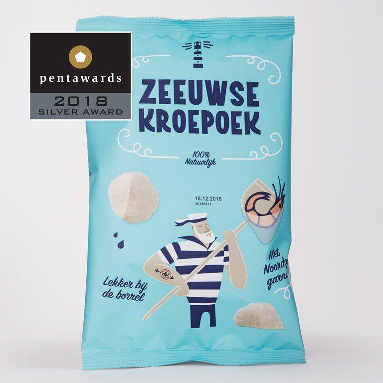Zeeuwse Kroepoek - Silver Pentaward 2018 (chips) I Design : SNOW DONUTS, Pays-Bas