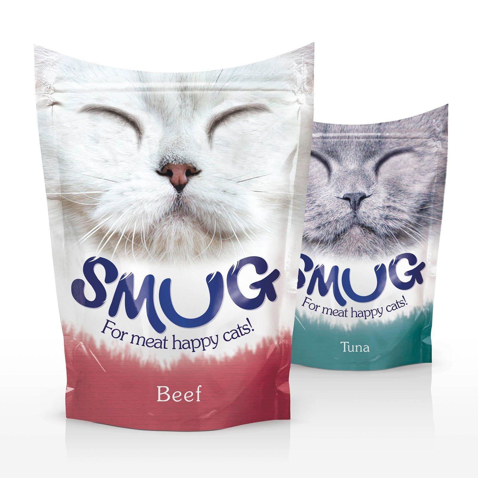 Smug (alimentation pour chats) I Design (concept) : Springetts Brand Design, Londres, Royaume-Uni (septembre 2018)