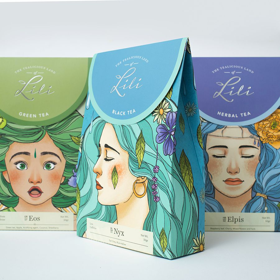 """The tea of emotions"" - The tealicious land of Lili (thé) I Design : Direction - Design & Branding Agency, Vietnam (octobre 2018)"