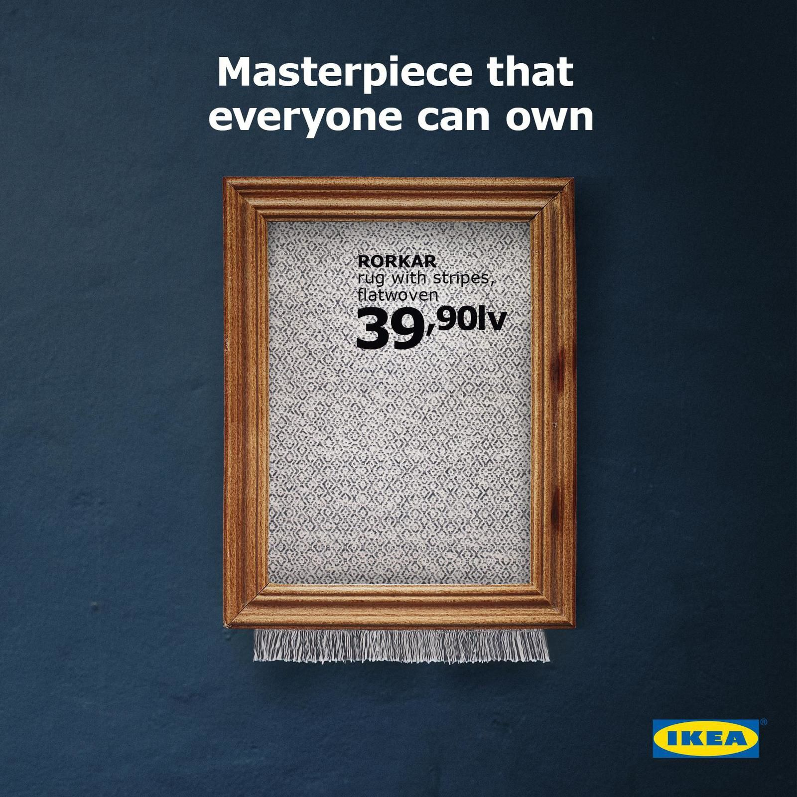 "IKEA : ""Masterpiece that everyone can own"" I Agence : The Smarts, Sofia, Bulgarie (octobre 2018)"