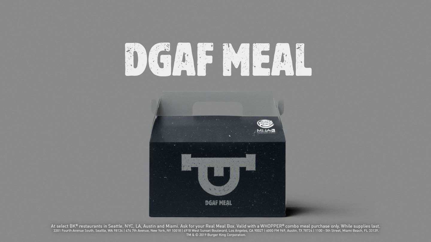 Burger King - DGAF Meal