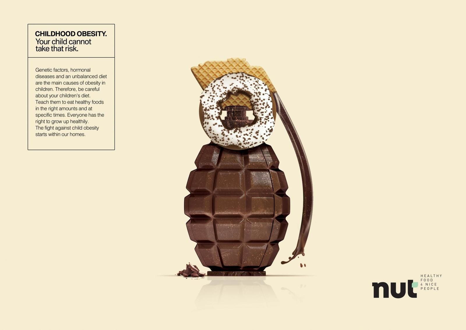 """Nut : """"Childhood obesity. Your child cannot take that risk"""" I Agence : Criola, Natal, Brésil (mai 2019)"""