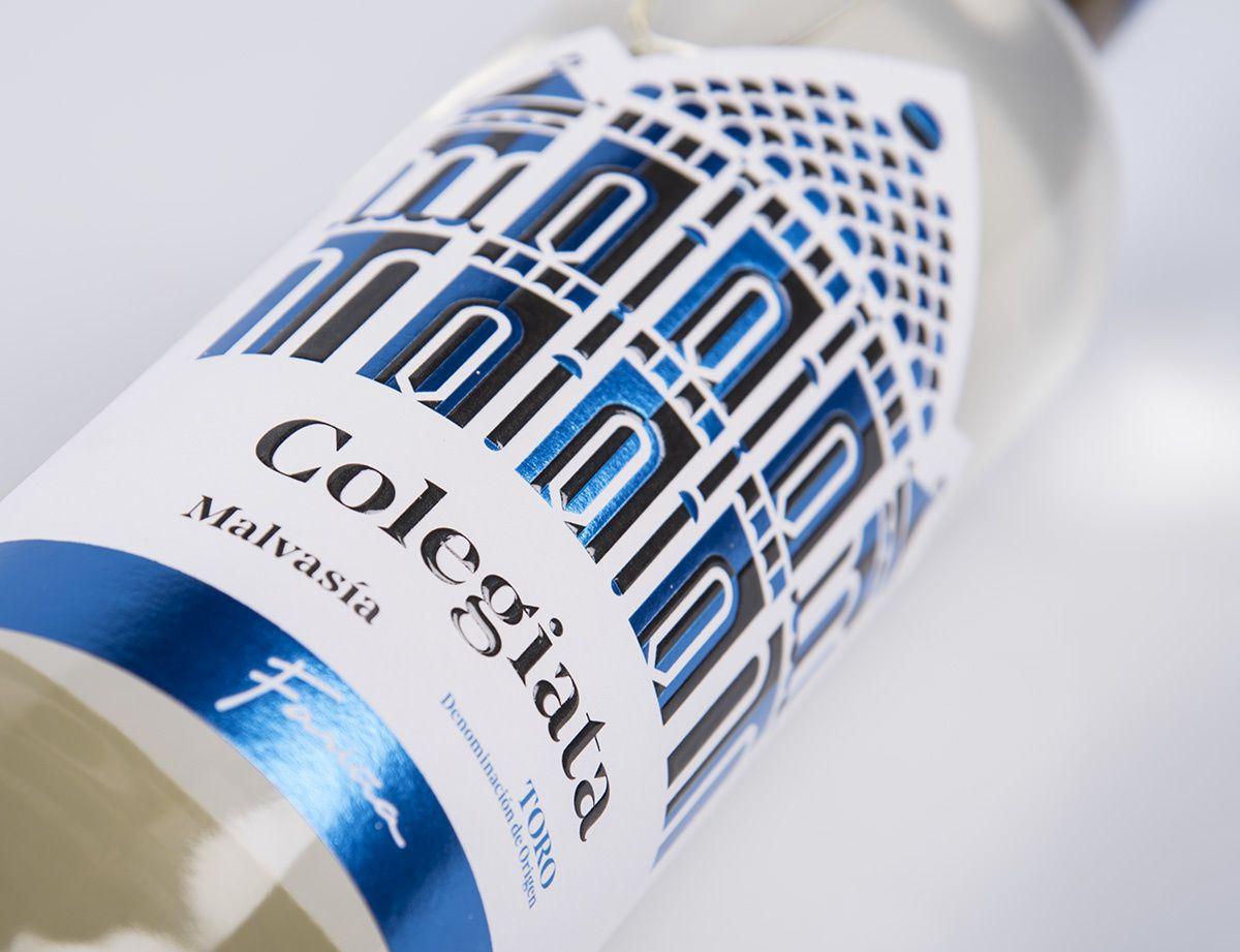 """Bodegas Fariña : """"Colegiata"""" (vins espagnols de D.O. Toro) I Design : Javier Garduño Estudio De Diseño, Zamora, Espagne (mai 2019)"""