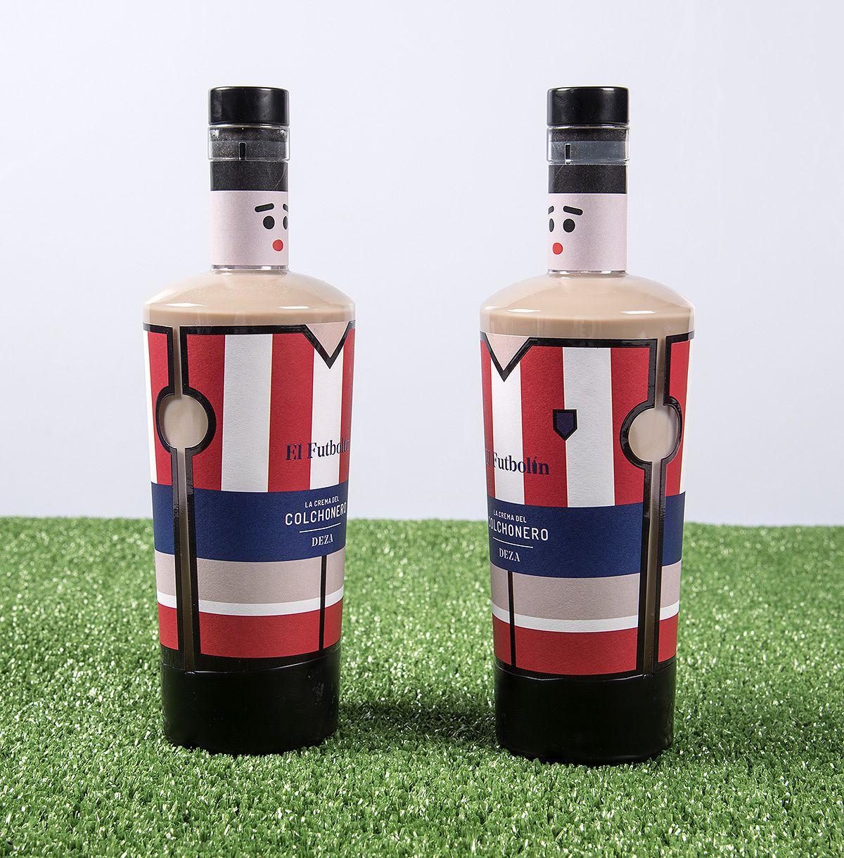 "Licores Deza : ""El Futbolín / Table Football"" (liqueur de café) I Design : Javier Garduño Estudio de Diseño, Zamora, Espagne (mai 2019)"