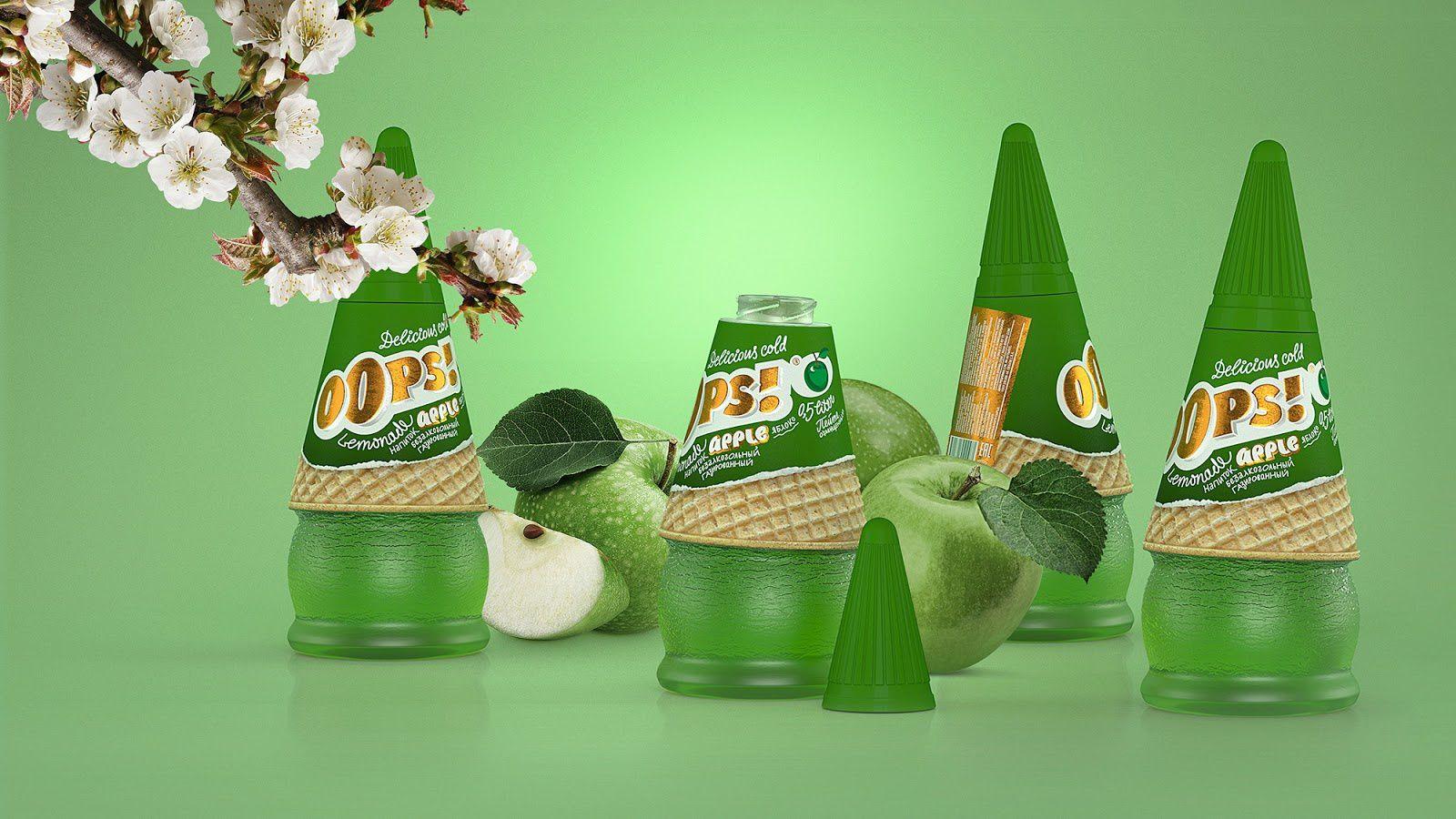 Oops! (limonades) I Design (concept) : NovaBrand, Rostov-on-Don, Russie (mai 2019)