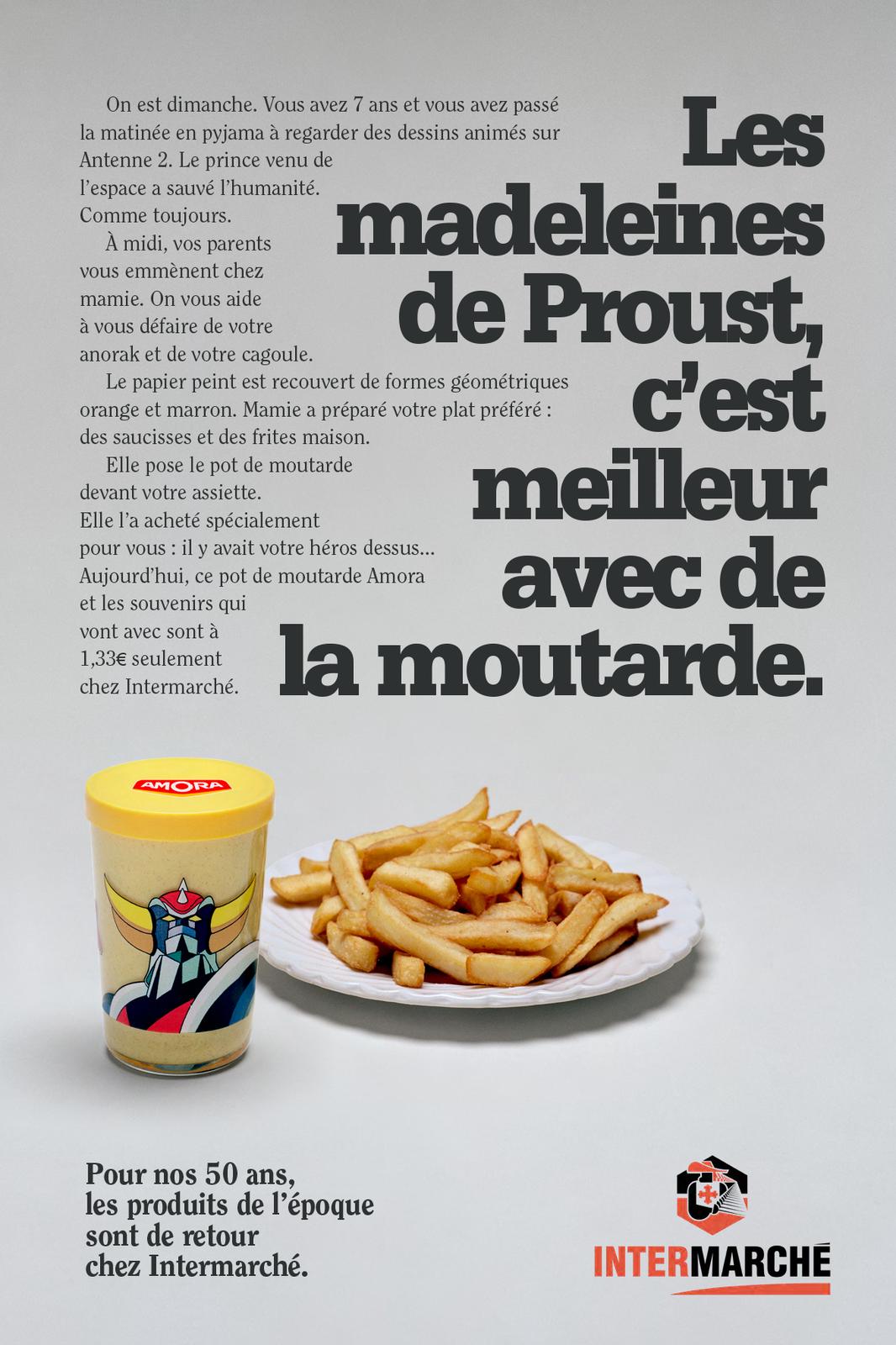 """""""Pour nos 50 ans, les produits de l'époque sont de retour chez Intermarché"""" I Agence : Romance, Paris, France (mai 2019)"""