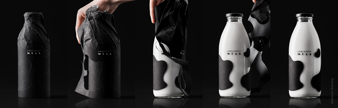 Unblackit (lait) I Design : Backbone Branding, Yerevan, Armenie (juin 2019)