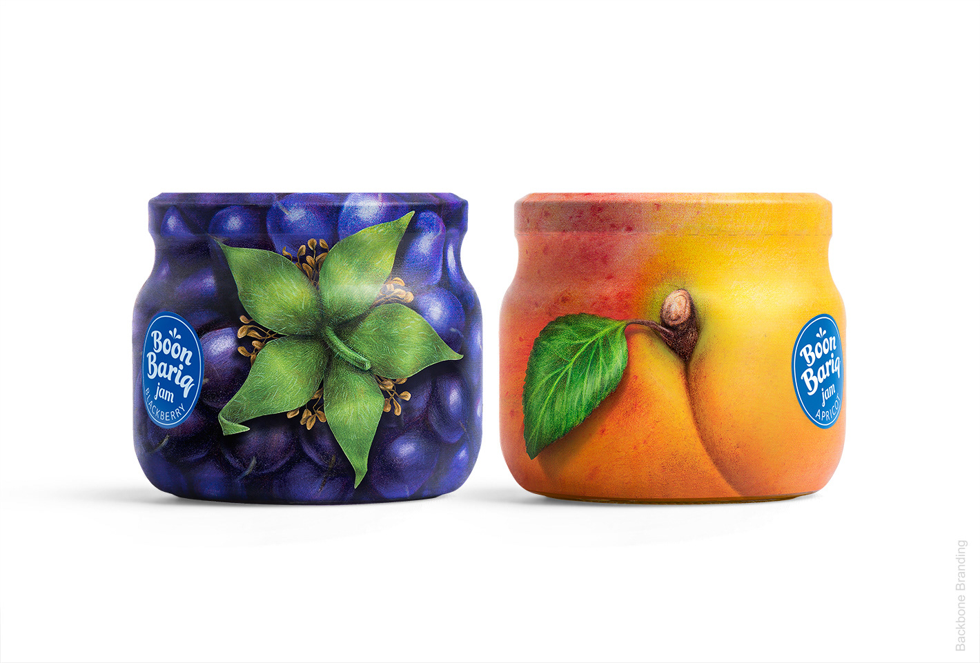 Boon Bariq (conserves et confitures de fruits) I Design : Backbone Branding, Arménie (juillet 2019)