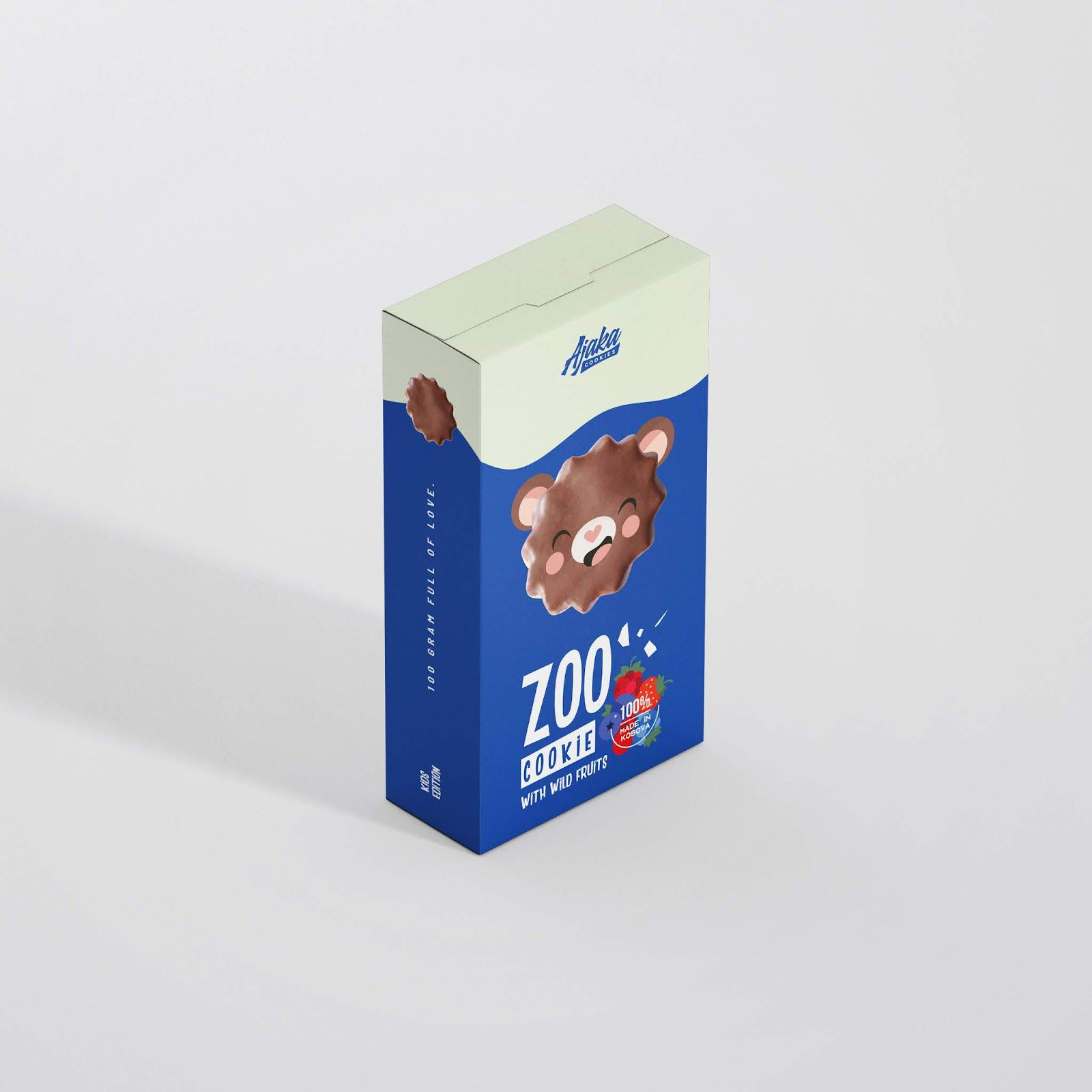 "Ajaka : ""ZOO"" (biscuits pour enfants) I Design : NICE Creative Agency, Kosovo (décembre 2019)"