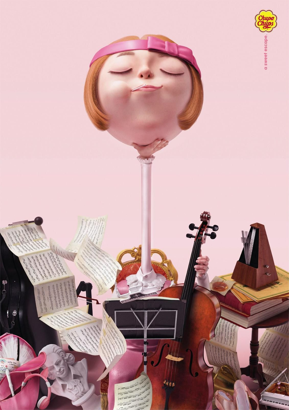 "Chupa Chups : ""A sweet escape"" (sucettes) I Agence : Cheil Worldwide, Hong Kong (décembre 2019)"