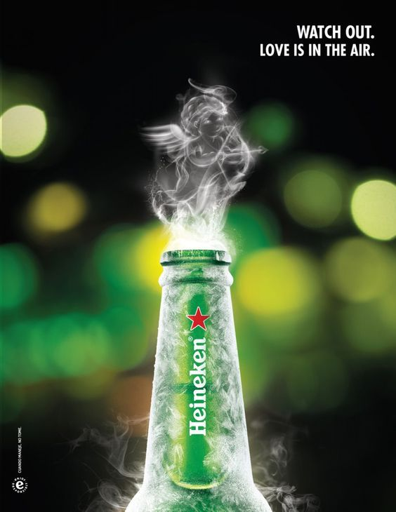 "Heineken : ""Watch out, love is in the air"" (bière)"