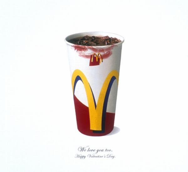 "McDonald's : ""We love you too. Happy Valentine's day"""
