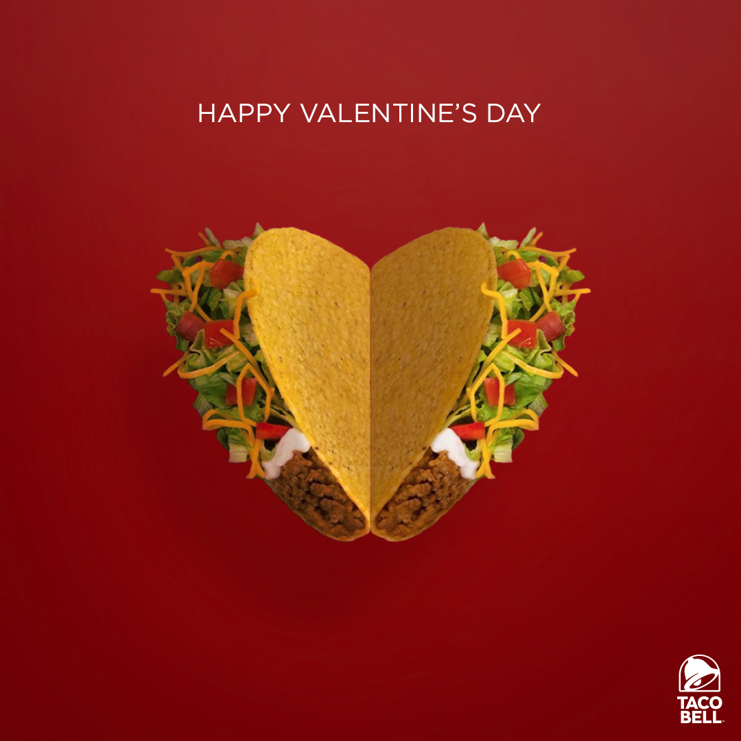 "Taco Bell : ""Happy Valentine's day"""