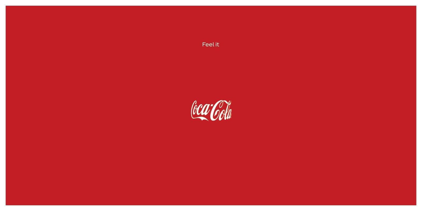 "Coca-Cola : ""Feel it"" I Agence : Publicis, Italie (février 2020)"