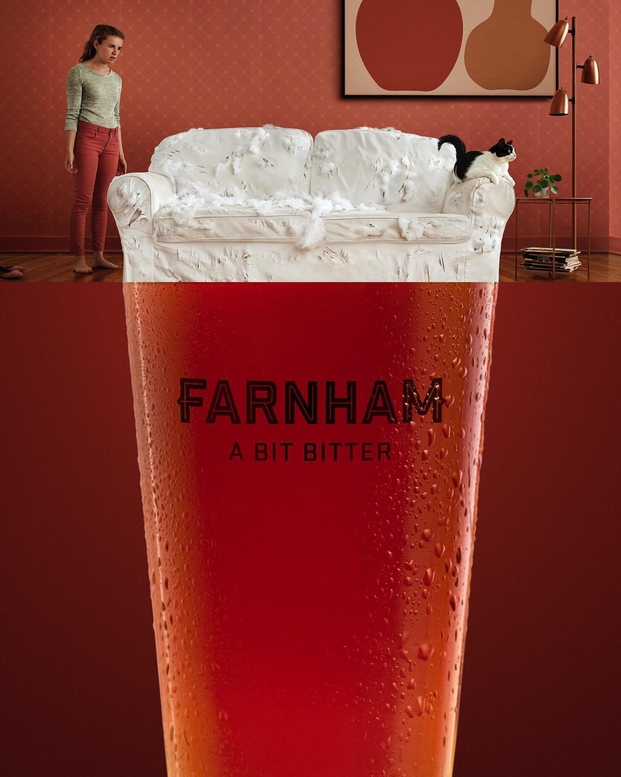 """Farnham Ale & Lager : """"A bit bitter"""" I Agence : Lg2, Quebec, Canada (février 2020)"""