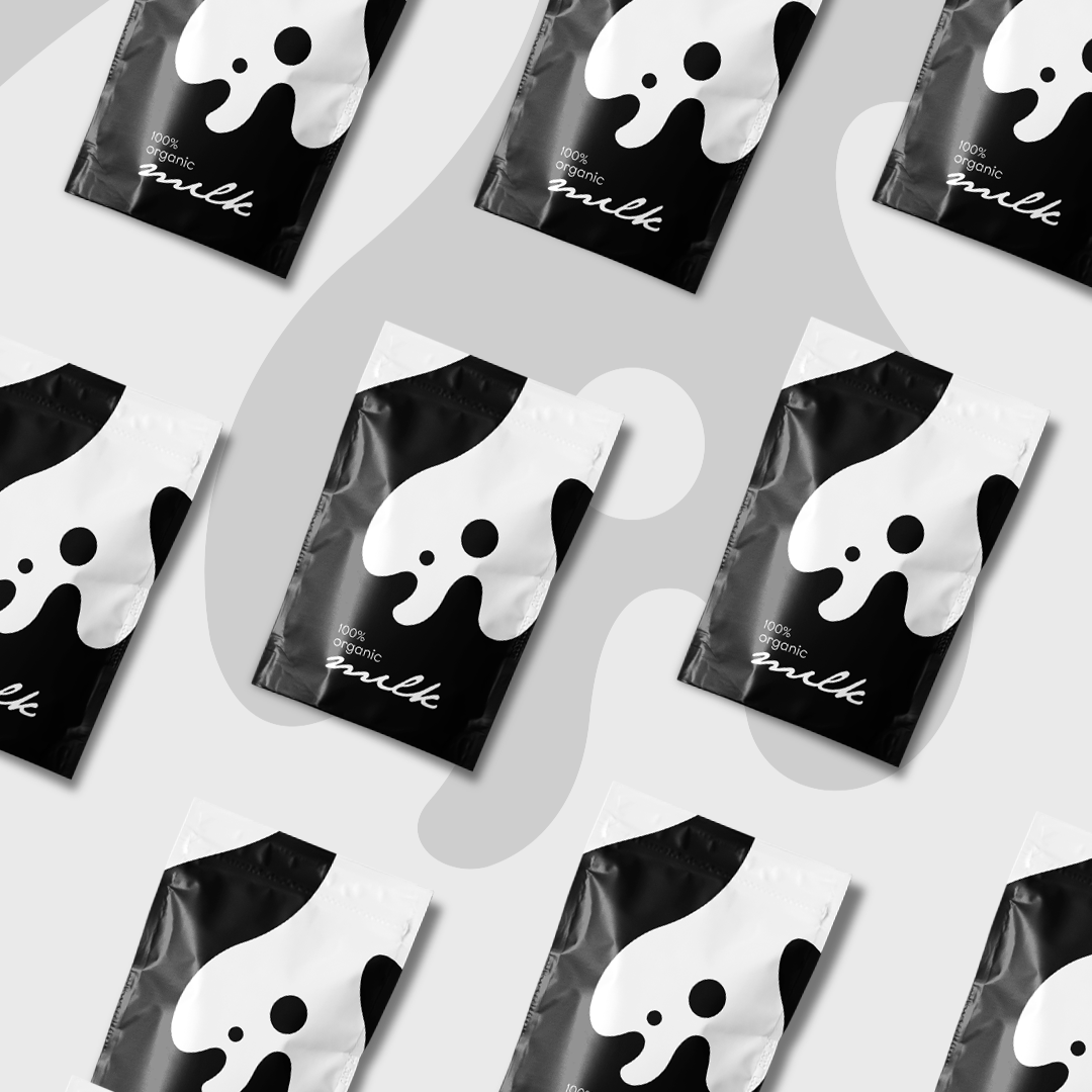 100% Organic Milk (lait bio) I Design (concept) : Nalayak Artist, Inde (février 2020)