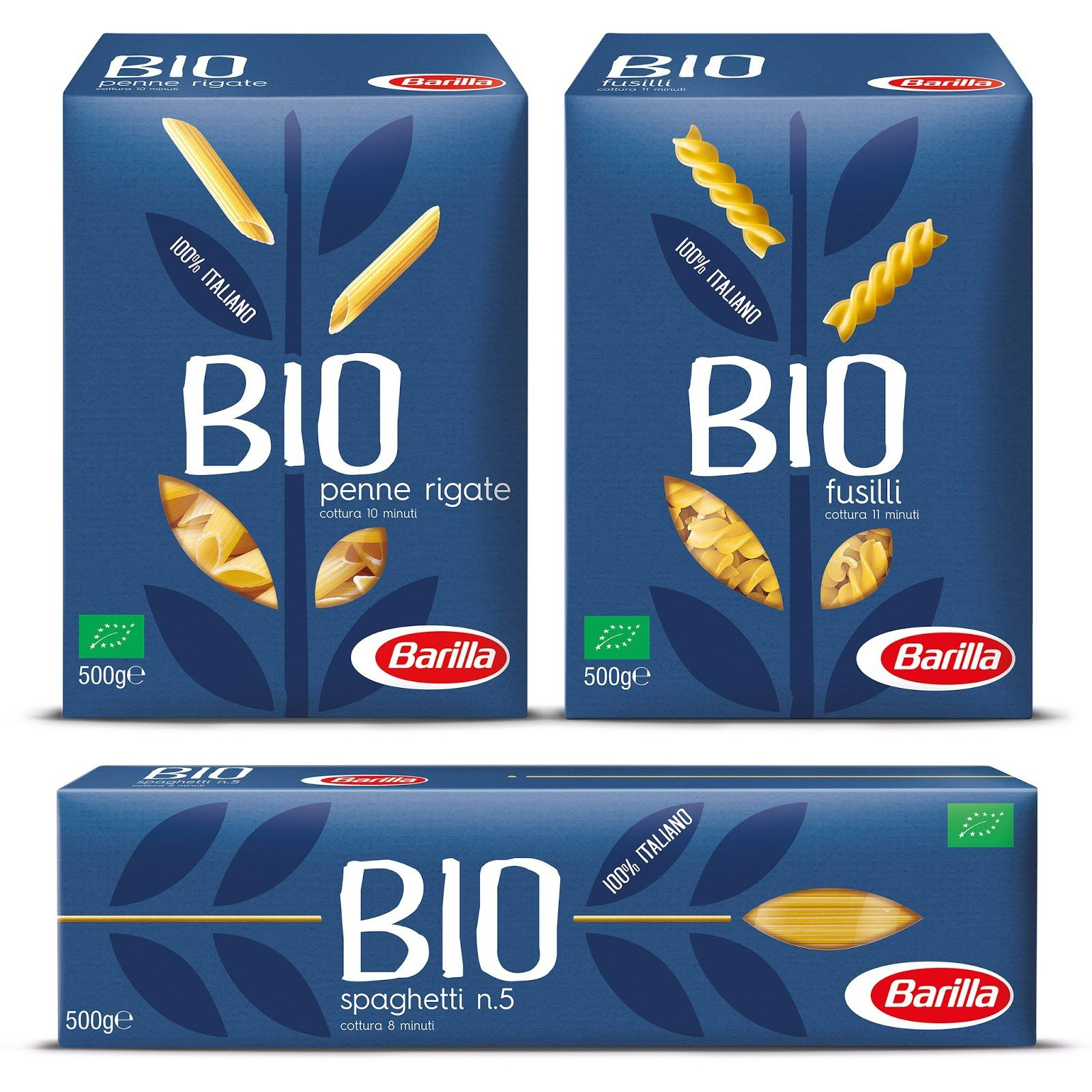 Barilla (gamme de pâtes bio) I Design : FutureBrand, Italie (février 2018)