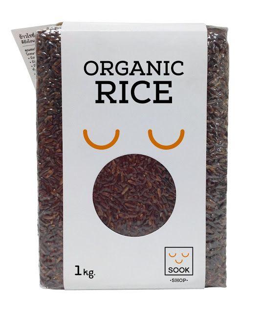 "SOOK Rice (riz bio / Sook = ""bonheur"" en Thaï) | Design : Subconscious Co.,Ltd., Bangkok Thaïlande (février 2015)"