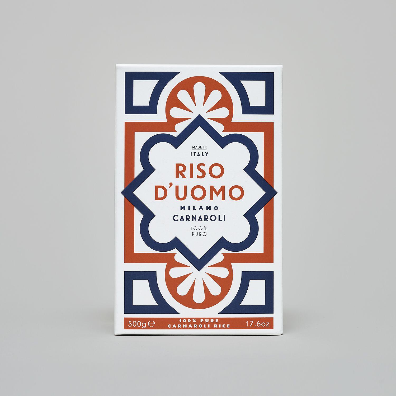 Riso D'uomo (riz Carnaroli - design inspiré des motifs du carrelage du Dôme de Milan) I Design : Here Design, Royaume-Uni (2018)