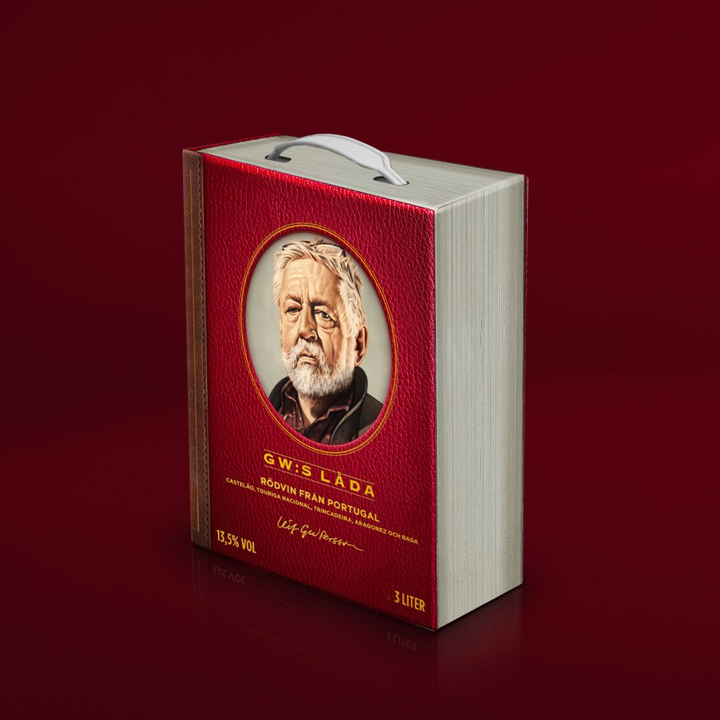 "Tegnér Spirits & Wine Ab : ""GW:s Bag-In-Book"" (vin rouge) I Design : GB Network, Suède (mars 2020)"