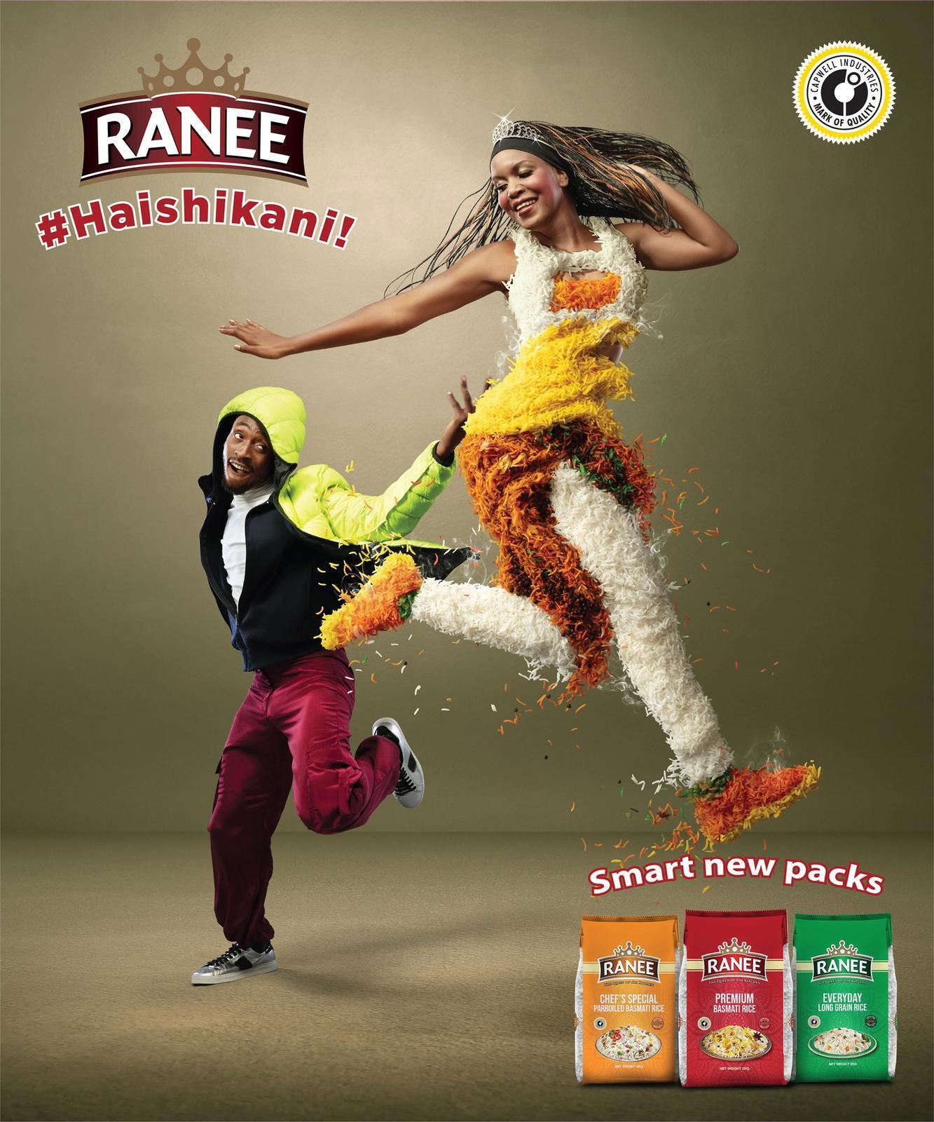 "Ranee : ""Haishikani!"" (riz) I Agence : TDF Group, Nairobi, Kenya (février 2020)"