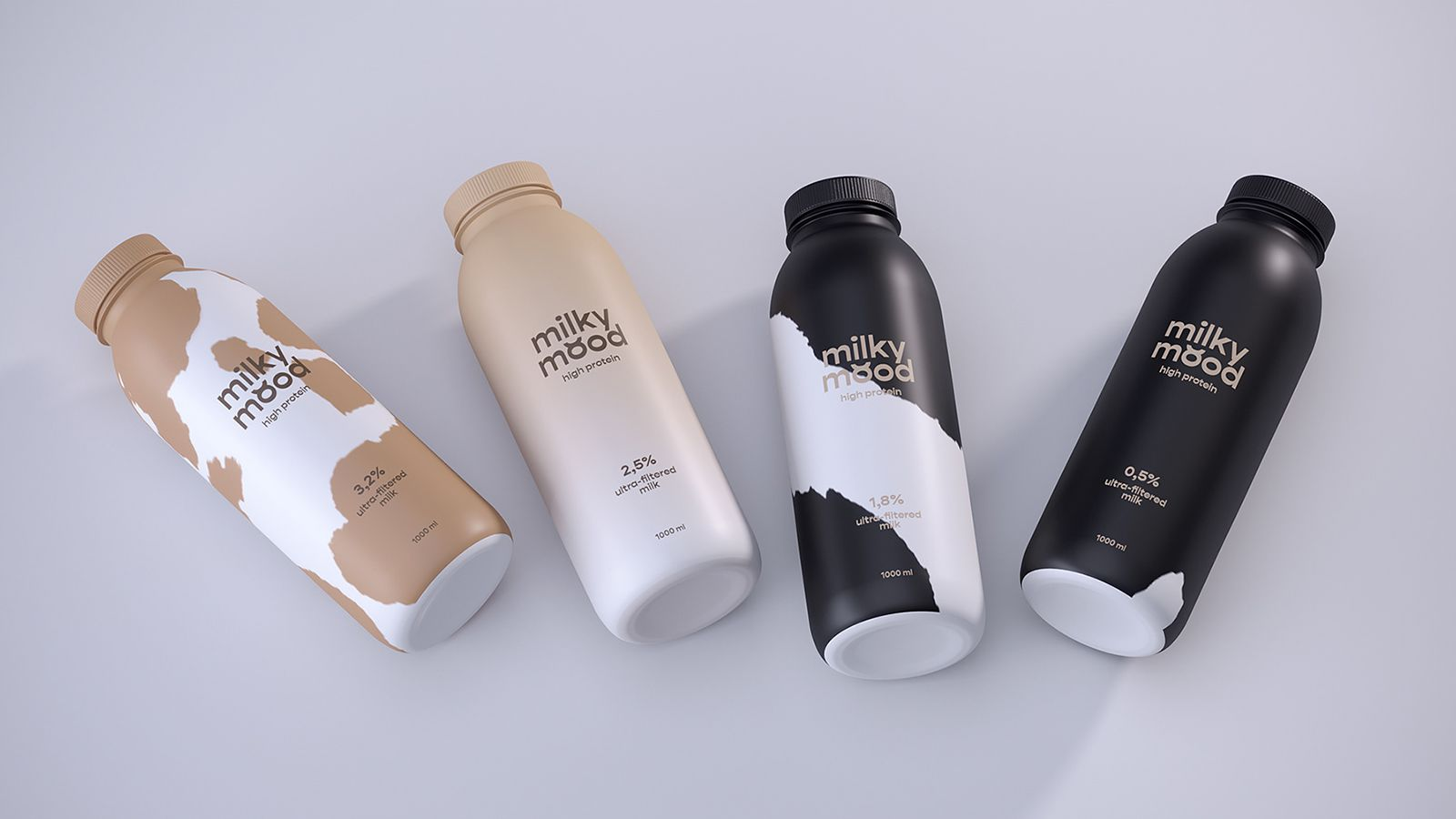Milky Mood (lait) I Design (projet étudiant) : Lilit, Russie (mars 2020)