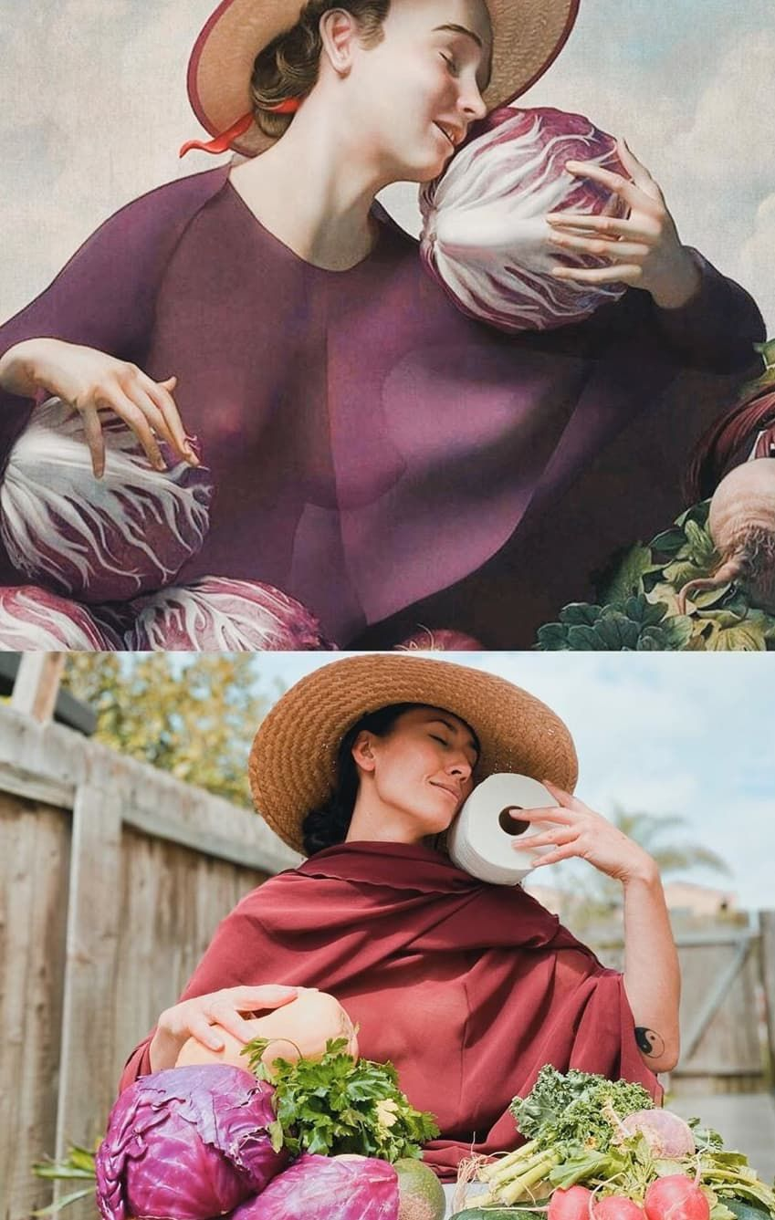 """The Cabbage Girl"" - Rafael Ochoa I © @caewri sur Instagram pour le Getty Museum Challenge"