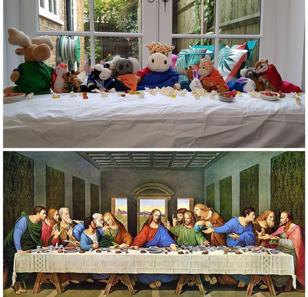La Cène - Léonard De Vinci I © @calvin.t.cow sur Instagram pour le Getty Museum Challenge