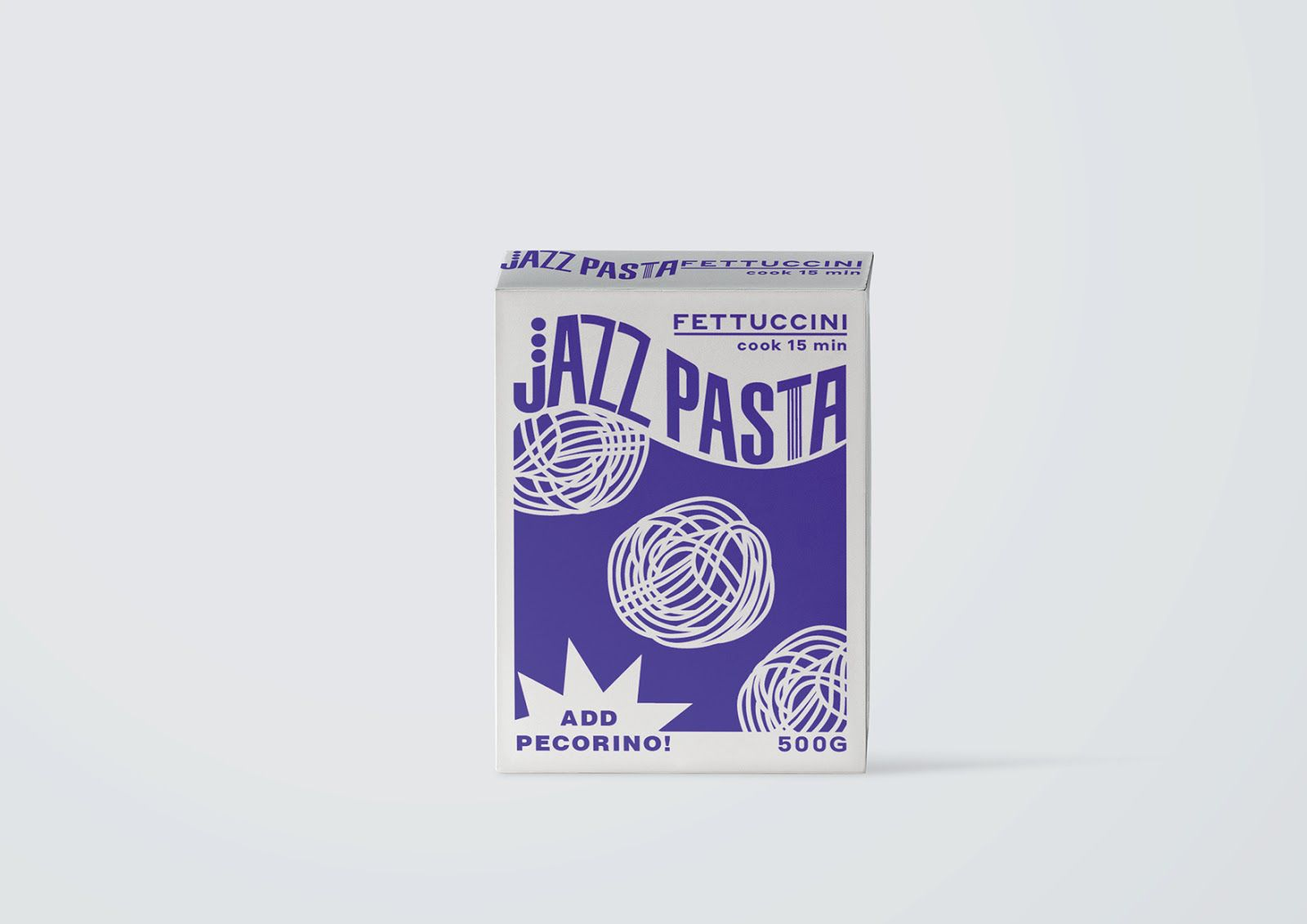 Jazz Pasta (pâtes) I Design  (projet étudiant) : Valeria Obrazkova (HSE Art and Design School), Russie (avril 2020)