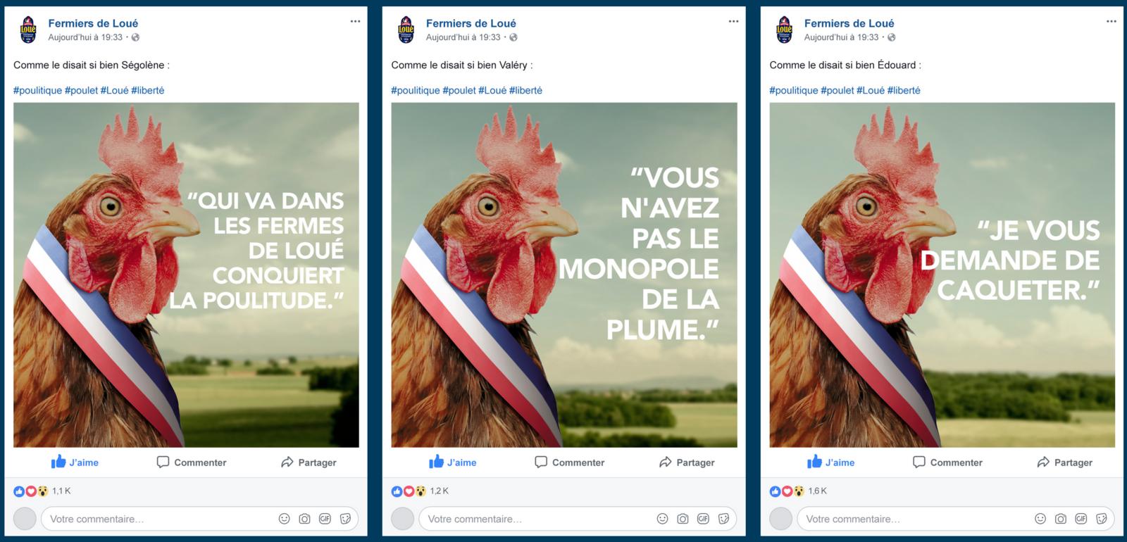 """Les Fermiers de Loué : """"Campagne des Municipoules"""" (lancée à quelques jours des campagnes municipales 2020) I Agence : Josiane, France (mars 2020)"""