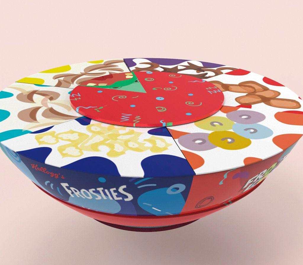 Kellogg's cereal multipack (céréales) I Design (projet étudiant) : Shreya Pujari (MIT Institute of Design), Inde (mai 2020)
