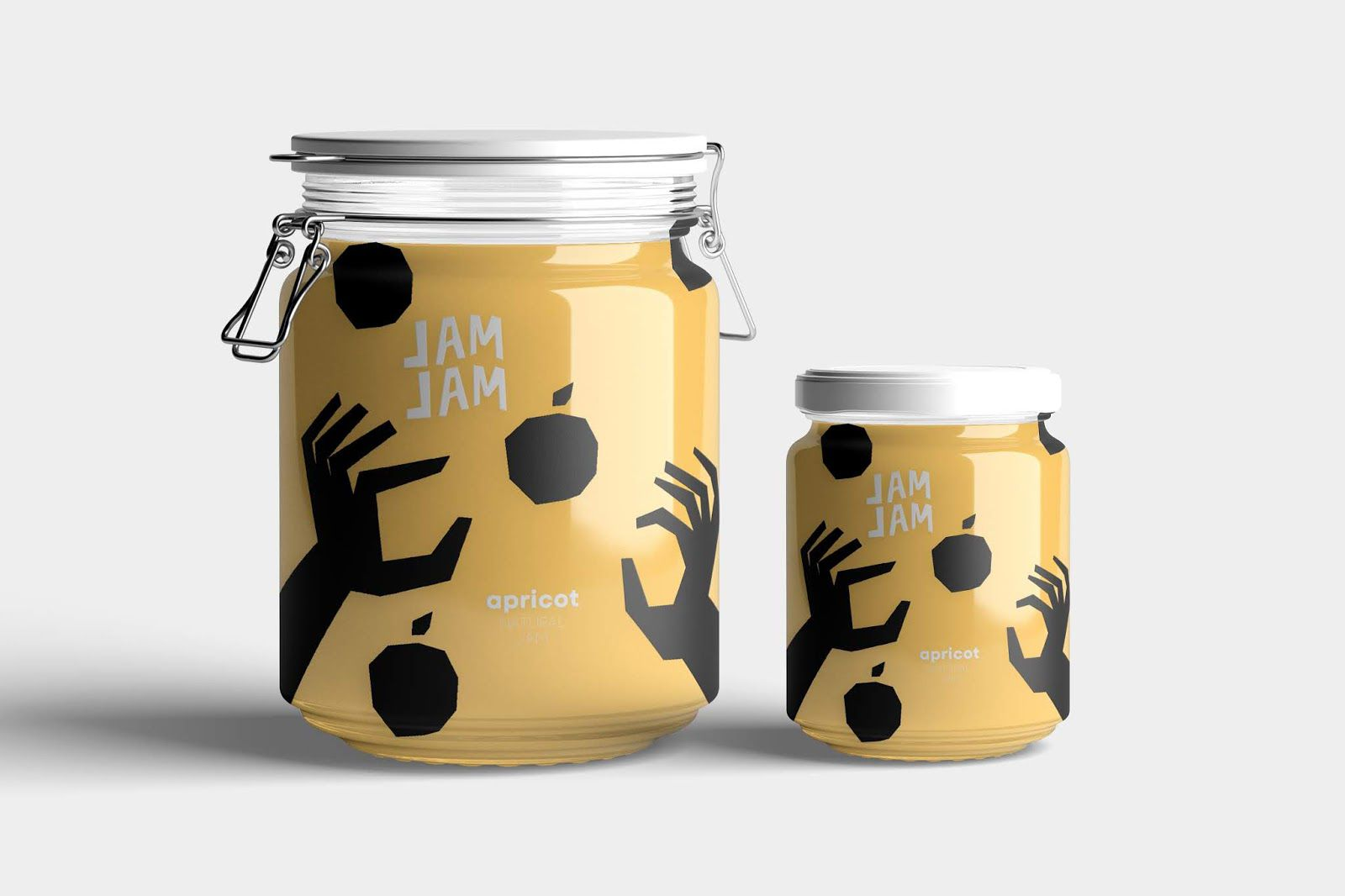 Jam Jam (confiture) I Design (projet étudiant) : Qaes Al-atoom (HSE Art and Design School), Russie (mai 2020)