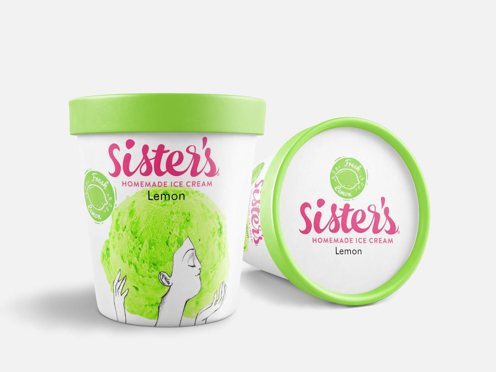 Sister's homemade Ice Cream (glaces) I Design : Azadeh Gholizadeh, Iran (mai 2020)