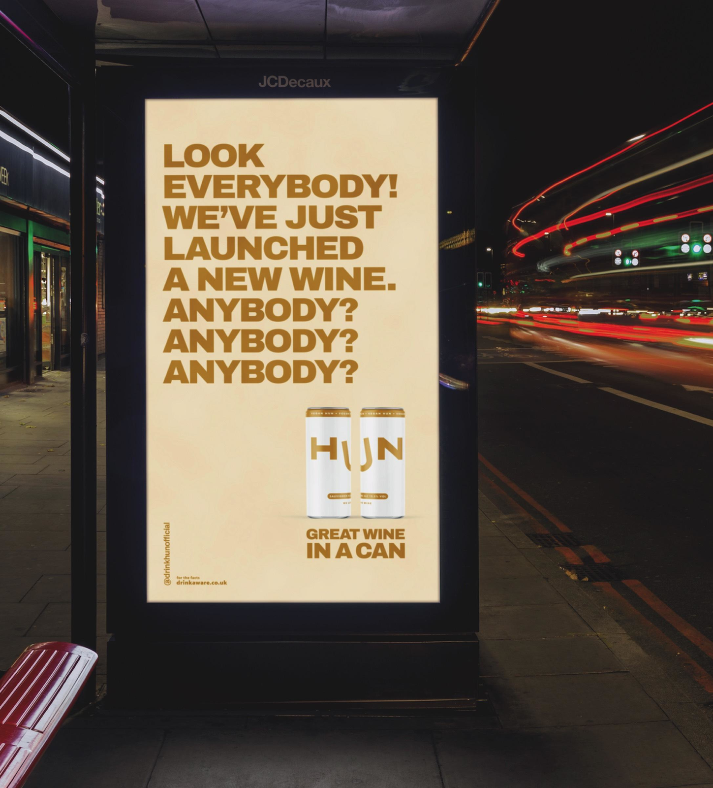 "HUN Wine ""The worst time to launch a new_brand"" I Agence : TBWA\London, Royaume-Uni (mai 2020)"